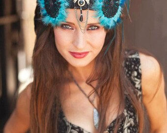 MADE TO ORDER Azul Goddess Headdress