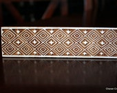 Hand Carved Indian Wood Textile Stamp Block- Geometric Border