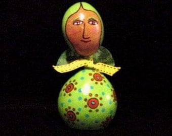 Spring Fairy Gourd  Green Art Doll