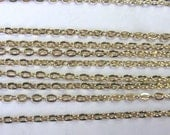 3 ft equal to 1m of Cable Bulk Chain Necklace 1.5mm Gold Tone - 5948 Wholesale Chain
