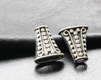 8pcs / Bead Cap / Cone / Oxidized Silver / Base Metal / 18x17mm (YA1281//A265)