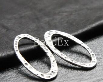 10pcs / Oval / Link / Oxidized Silver / Base Metal / 39x20mm (YA9057//C88)