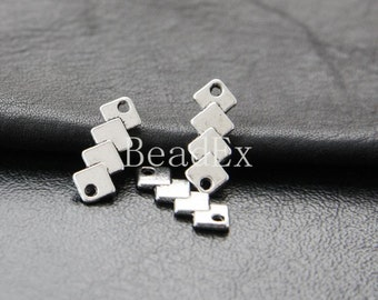 40pcs / Link / Triangle / Oxidized Silver Tone / Base Metal / 18x7mm (YA11021//C312A)