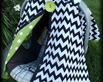 Carseat Canopy Boy carseat cover Chevron