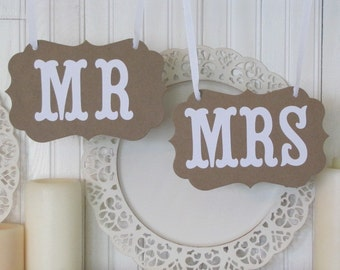 MR and MRS Wedding Signs, Wedding Photos, Wedding Reception, Chair Backers, Wedding Thank You Photos
