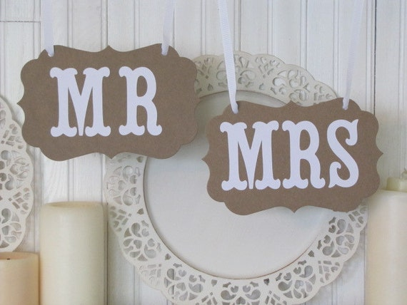 MR And MRS Wedding Signs Photos Reception
