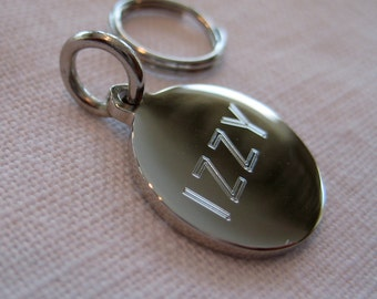 Pet ID Tag-Petite Round (gold or silver finish)