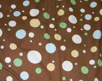 Brown Dotted Crib or Toddler Bed Fitted Sheet