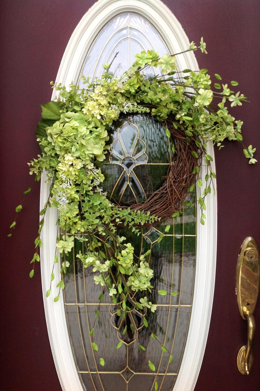 Spring Wreath Summer Wreath Grapevine Door Wreath