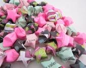 LAST SET SALE 120 Minty Pink Valentine Origami Stars