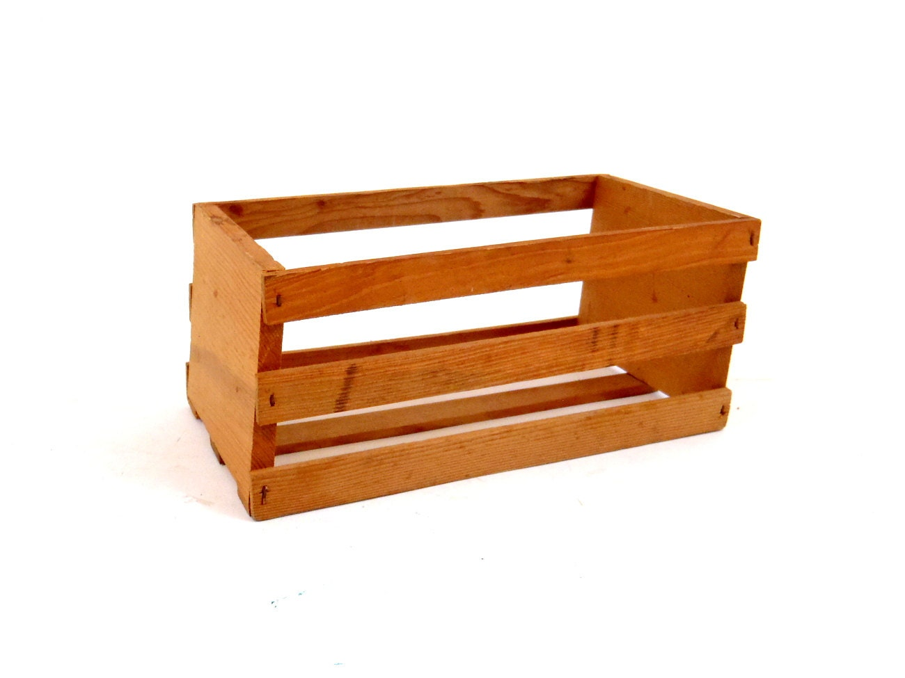 Vintage crate wood crate small crate fruit by for Wooden fruit crates