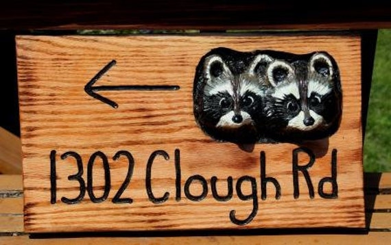 Custom Signs - Hand Carved - Personalized Hand Painted House Address Sign