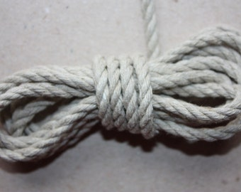 4 mm Linen Rope = 24 Yards = 21.95 Meters Natural Linen Cord - Natural Color - Organic Natural Fiber Cord - Decorative Rope