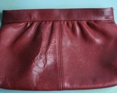 Maroon Red Clutch Purse