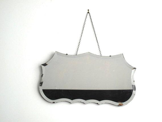 Vintage Decorative Wall Mirror Frameless by SnapshotVintage