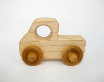 Wooden Toy Pickup Truck, little wood toy