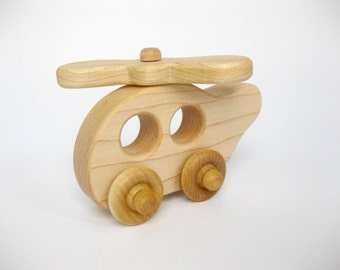 Wooden Toy Helicopter, little wood toy