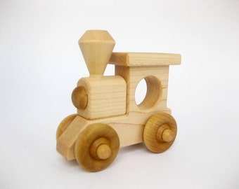 Wood Toy Train Engine, eco friendly wooden toy