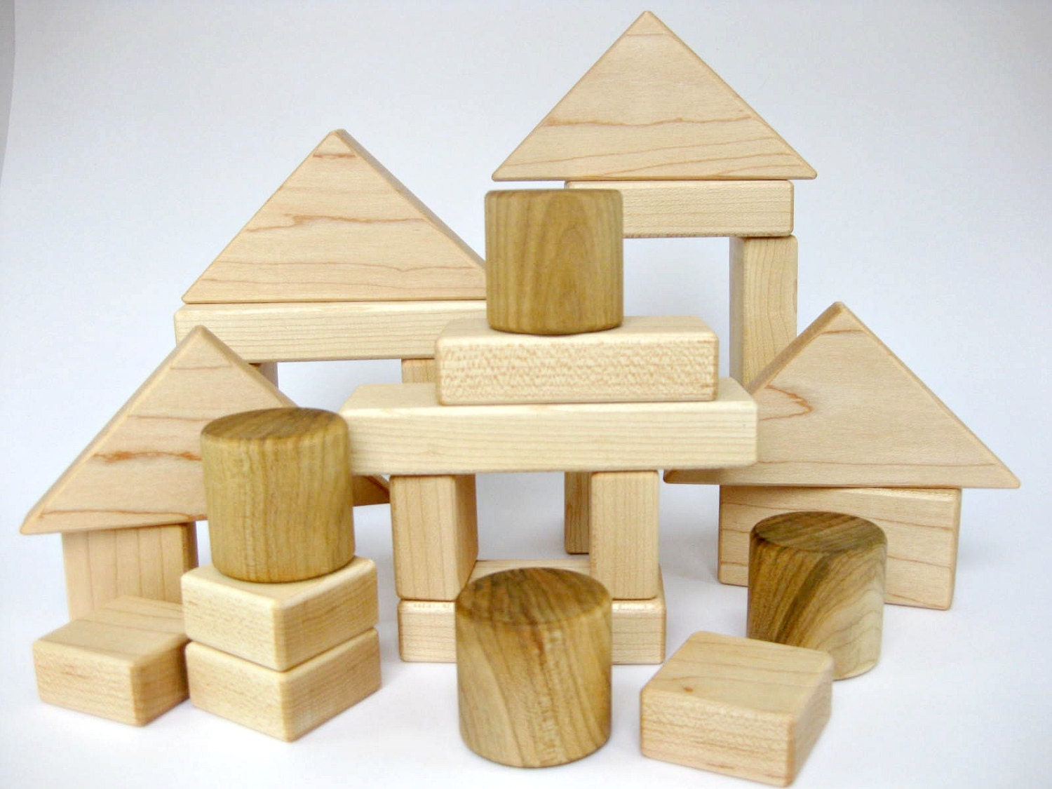 Wooden Blocks For Toddlers ~ Wooden building blocks set of wood toddler toy by