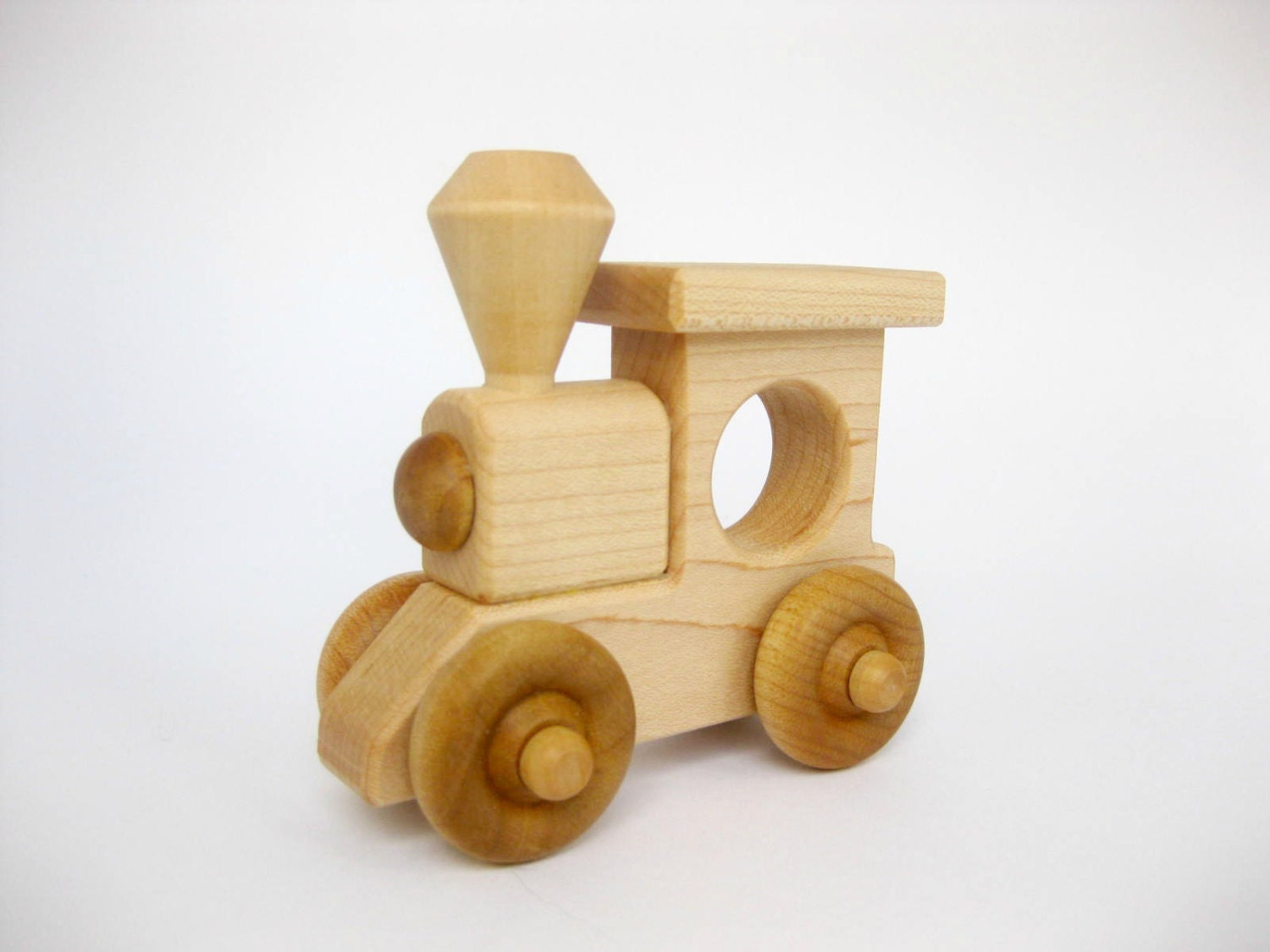 Wooden Toy Trains : Wood toy train engine eco friendly wooden