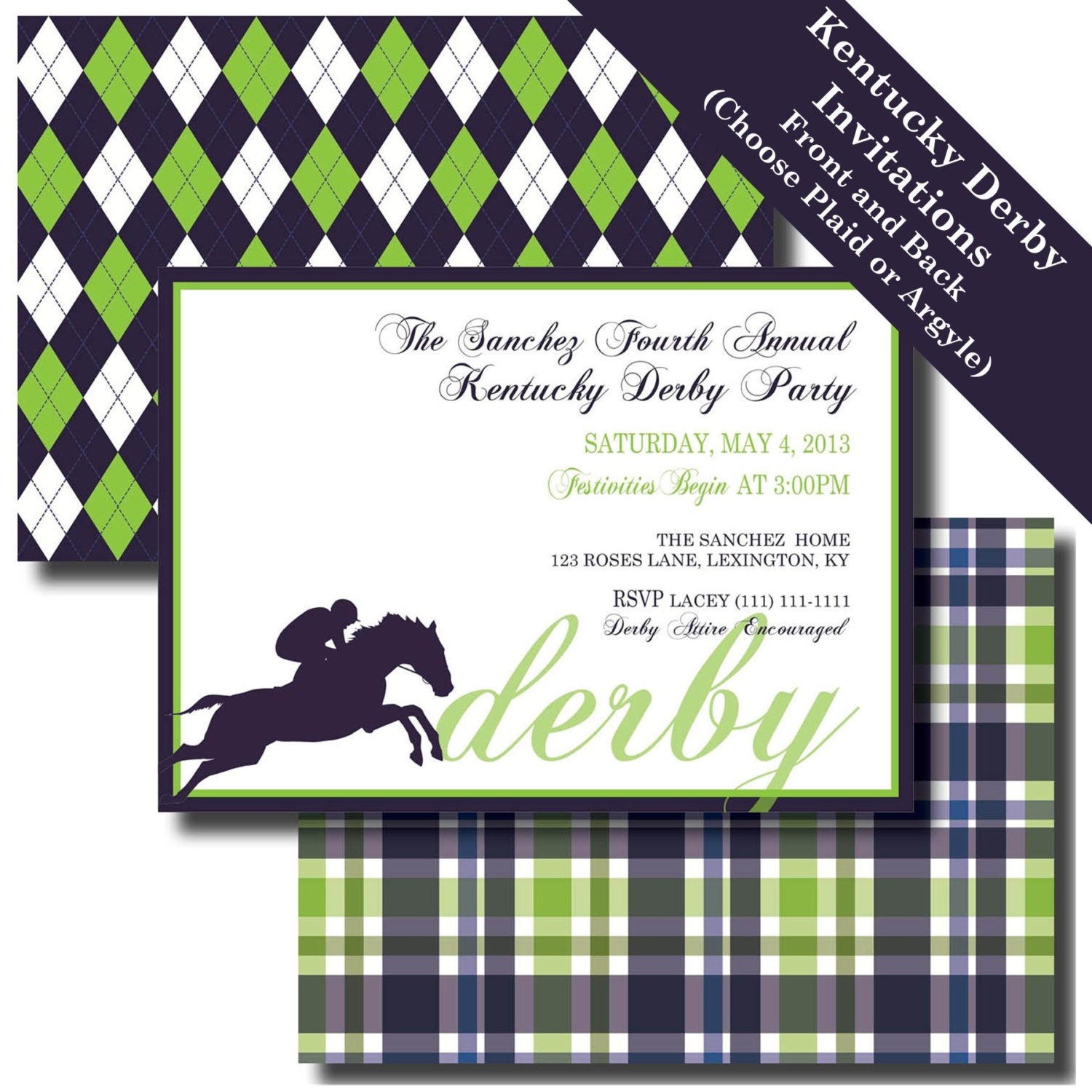 Kentucky Derby Party Kentucky Derby Invitation Kentucky