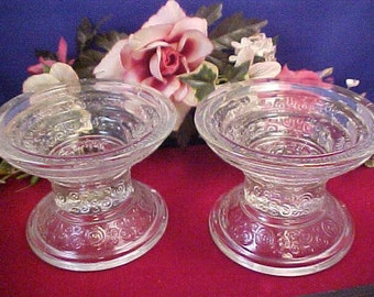 Vintage Glass Candle Holders Snail Pattern Home Decor