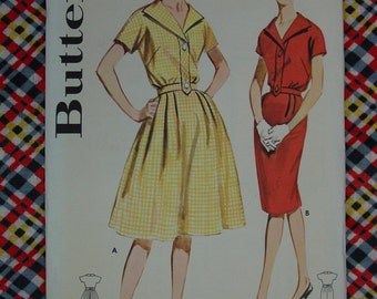 Vintage Pattern 1960's Butterick No.9972 Dress, Size 12 Uncut
