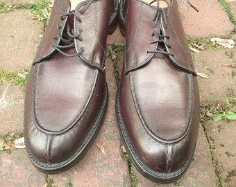 Vintage Allen Edmonds men's leather shoes size 11 1/2 B, burgundy leather shoes, men's dress shoes, Christmas gift for dad, gift for groom