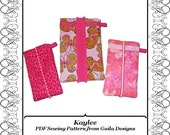 """PDF Sewing Pattern iphone 4 iphone 5 cover Camera Case iPod sleeve padded 3 sizes with or without pocket """"Kaylee"""""""