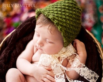 Windy Willow Bonnet Knitting Pattern - 5 Sizes Included - Instant Digital Download