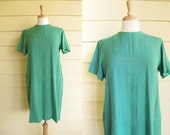 1960s Lord and Taylor Dress / 60s Green Shift Dress