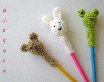 Crochet Animal Pencil Toppers Pattern pencil topper back to school back to school crafts crochet pattern teacher gift ideas teacher gift