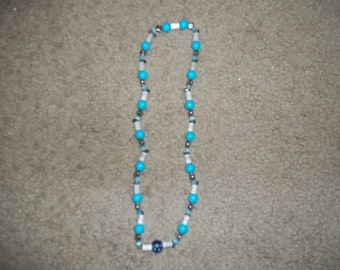 Tourquoise and White Necklace