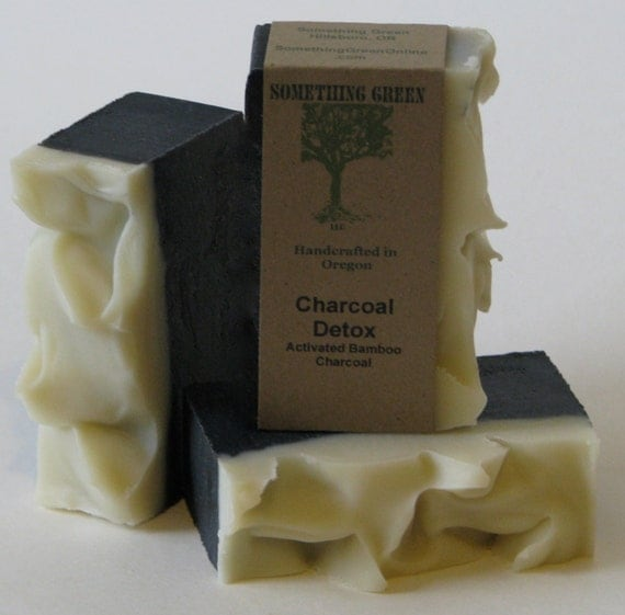 Charcoal Soap Mens Soap Natural Soap By SomethingGreenSoap