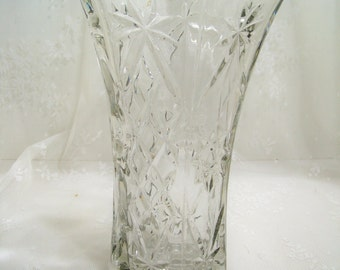 Vintage EAPC  Star of David Glass Vase Wedding Vase