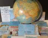 MAPS Vintage National Geographic maps crafts collage art projects school