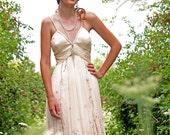 Ivory Chiffon Beaded sequin informal Wedding dress Karinas Fairy Dream