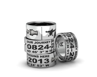 3D duck band ring with image