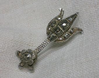 Halley's Comet Brooch. Silver & Diamond, 1835 or 1910. High-End Geek Gift!