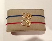 Abstract Circle Charm Adjustable Bracelet