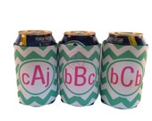 PERSONALIZED WEDDING FAVORS-Bridesmaids Gift-Wedding Gifts- Beer Can Insulators- Great Gifts for the Wedding Party-Great Christmas Gifts