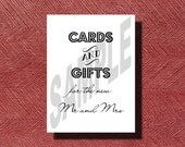 Wedding Reception Cards and Gifts Sign