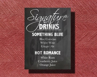 Chalkboard Wedding Signature Drink Sign