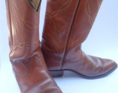 Vintage Mens Boots Vintage Brown Cowboy Boots Vintage Tony Llama Mens Cowboy Boots Men Size 10D Cowboy Leather Boots Western Boots Tan Boots