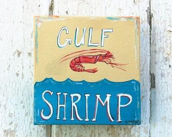 Gulf Shrimp (mini canvas)