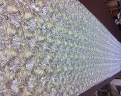 Custom Made Silver  Tafetta  Rosette Aisle Runner 25 Feet Long
