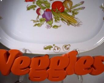 Harvest Thanksgiving Vintage Rosenthal Netter Vegetable Collection Meat Platter 1982
