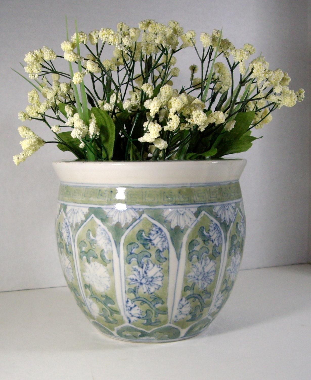 Grecian Jardiniere Style Vintage Planter 1988