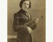 RESERVED for Elliscbell6 | Vintage Photo | Famous Czech Violinist JAN KUBELIK holding Violin