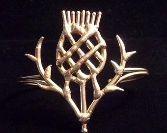 Bronze Thistle Bracelet